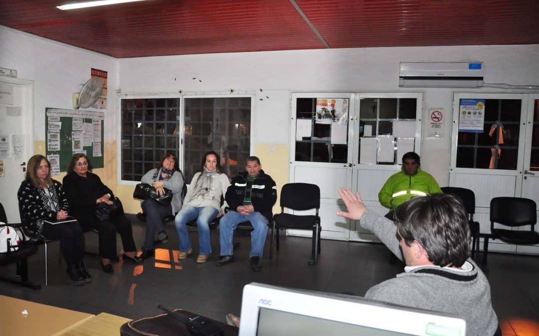 Reuniones en los barrios para hablar sobre Seguridad