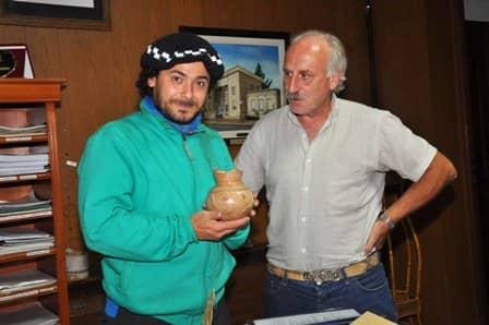 El Intendente recibió al artista Raly Barrionuevo