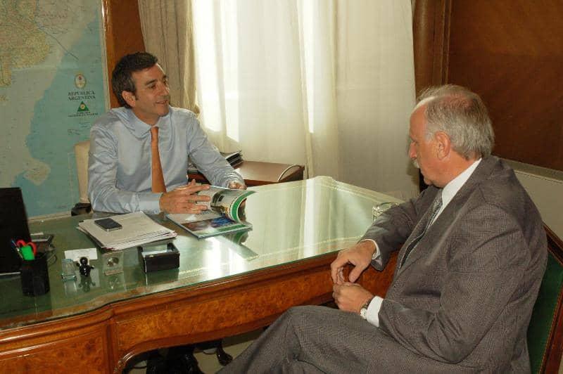 Feito se reunió con el Ministro Randazzo