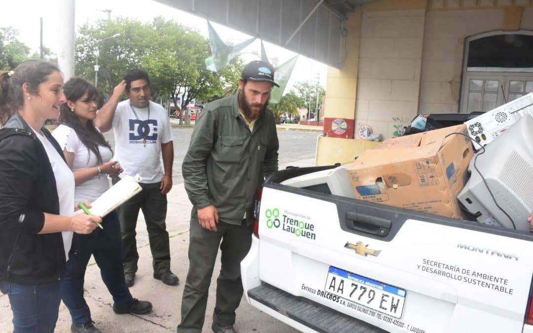 El Municipio concretó una campaña de recolección de residuos electrónicos