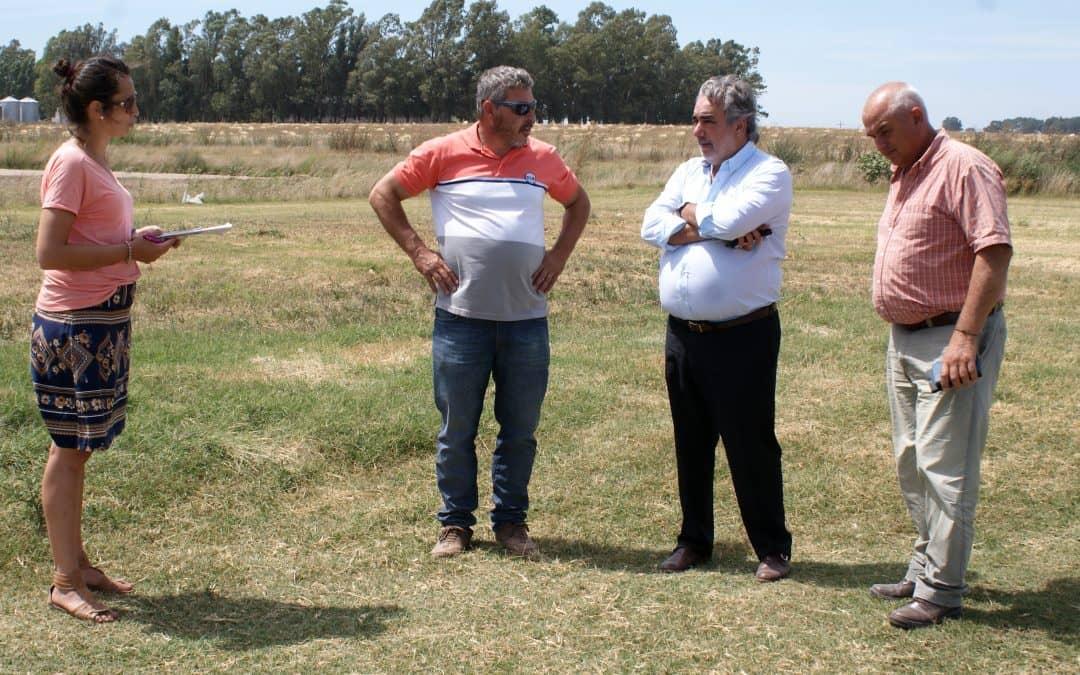 Fernández recorrió las obras en marcha en 30 de Agosto