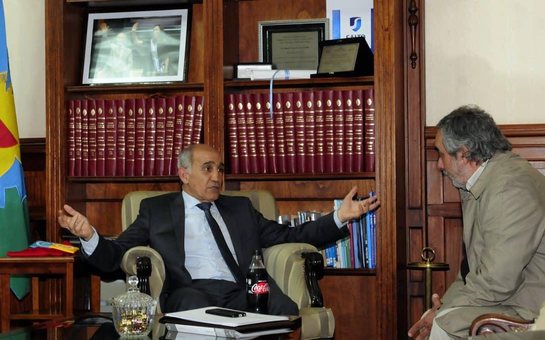 Fernández se reunió con el vicegobernador de la Provincia, Daniel Salvador