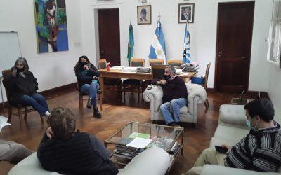 REUNIÓN DEL INTENDENTE MIGUEL FERNÁNDEZ CON VECINOS DE LA AMPLIACIÓN URBANA POR LAS VIVIENDAS