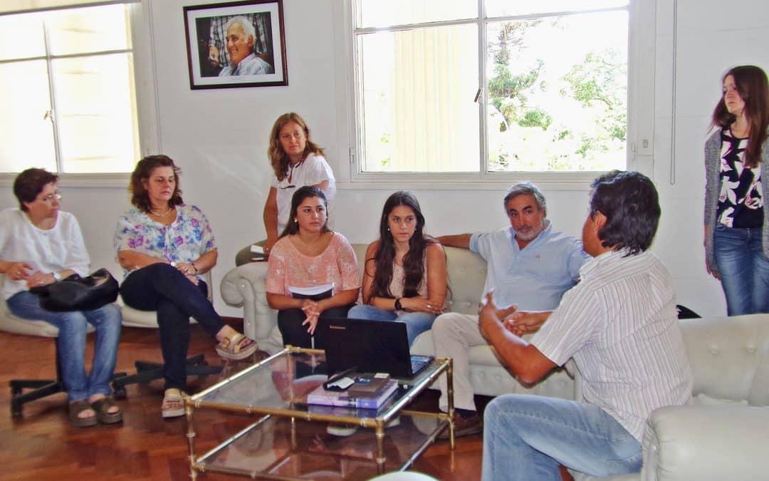 El Intendente recibió alumnos del ISFDyT Nº 40