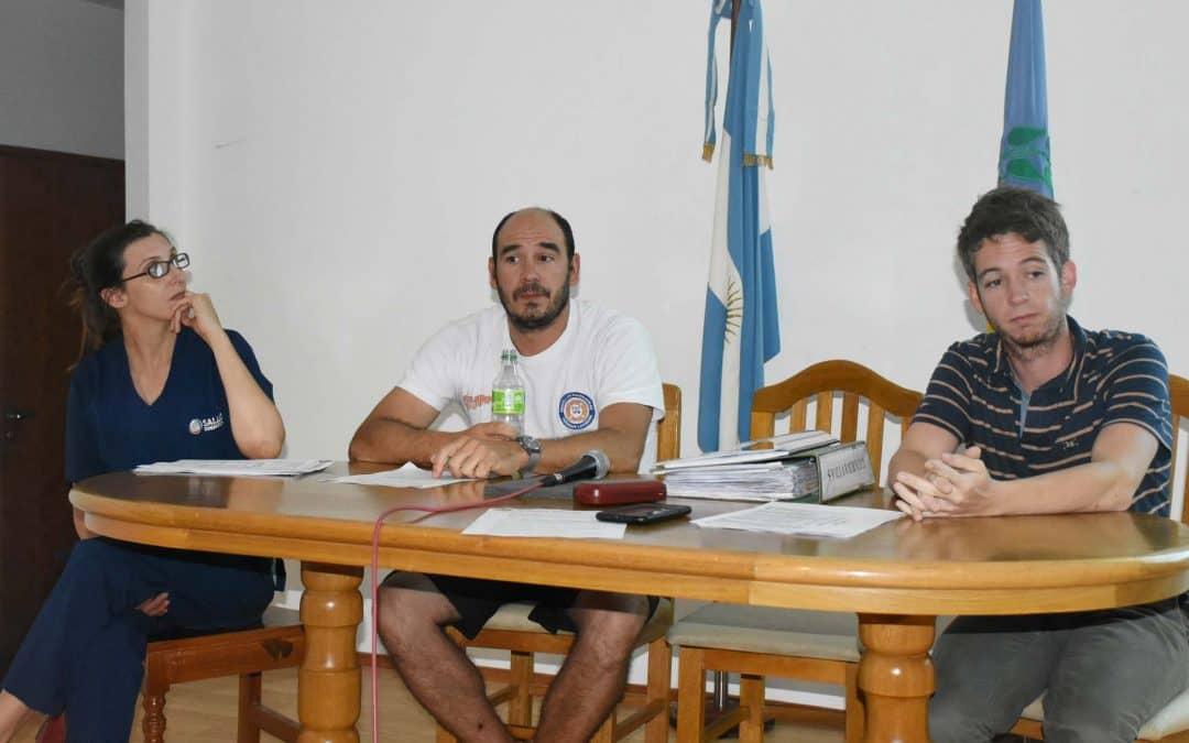 Se realizó una reunión con los representantes de los natatorios