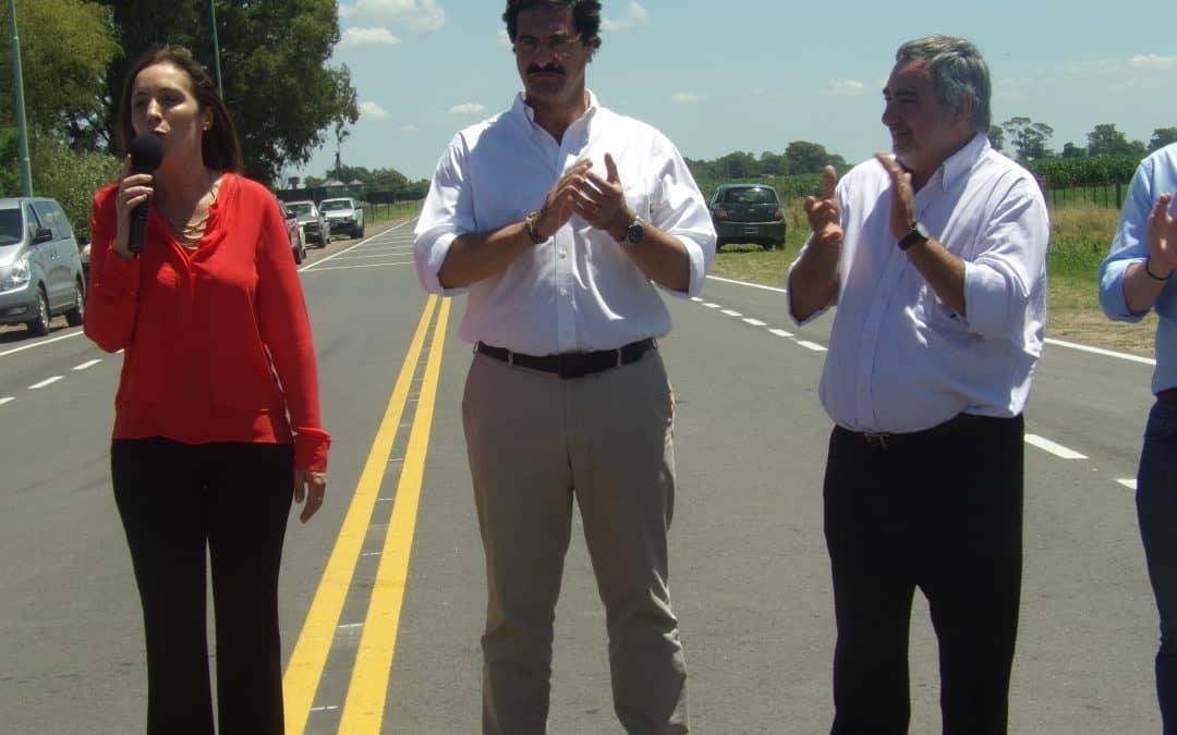 Fernández participó de la inauguración de la ruta del cereal