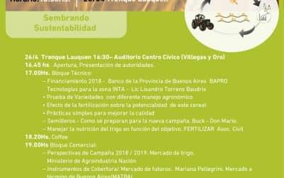 """Jornada """"Sembrando sustentabilidad"""" en la Semana del trigo / cebada"""