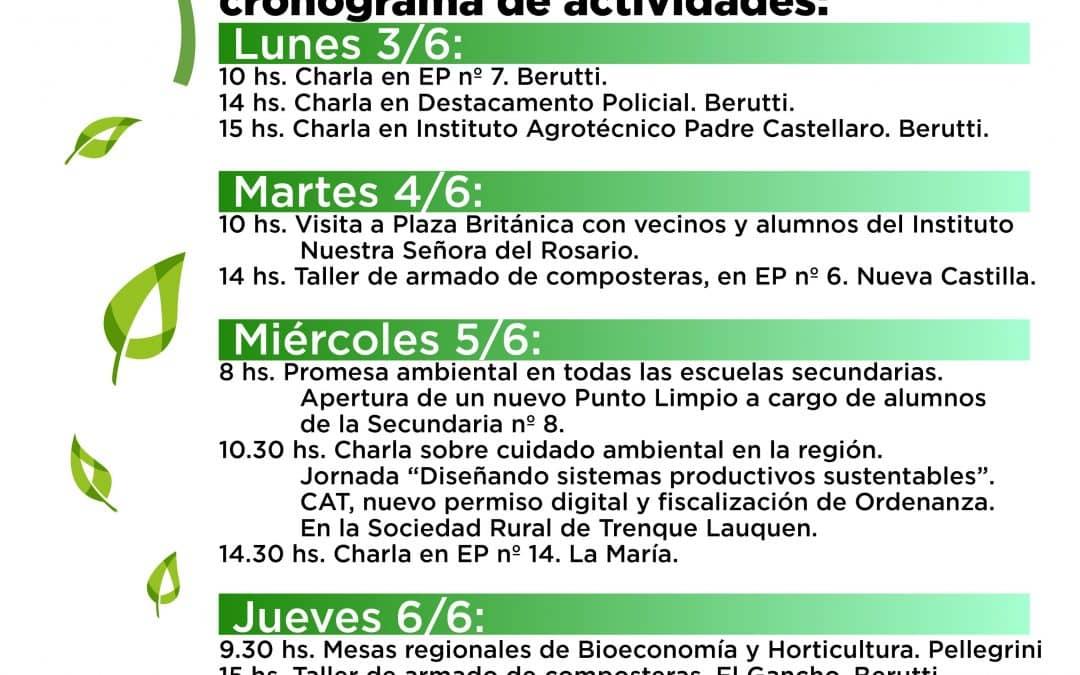SEMANA DEL AMBIENTE: TRES CHARLAS EN BERUTTI MARCAN EL PUNTO DE PARTIDA DE UNA SERIE DE ACTIVIDADES EDUCATIVAS