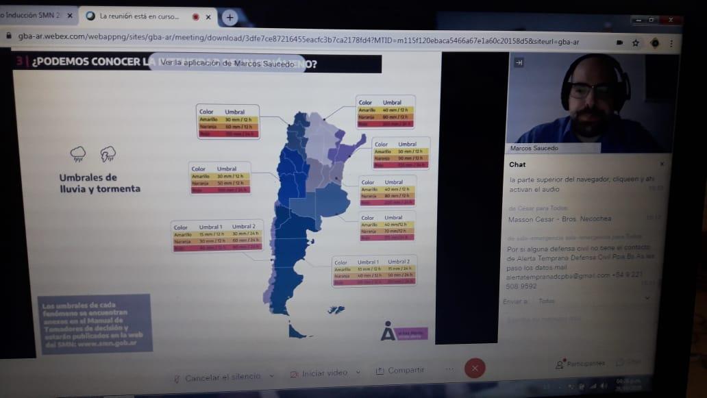 SE REALIZÓ UNA CAPACITACIÓN SOBRE EL NUEVO SISTEMA DE ALERTAS TEMPRANAS