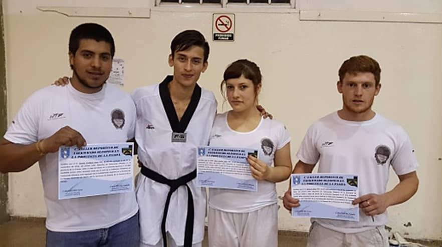 Alumnos deTaekwondo del Chiquito Tello participaron de un Taller en La Pampa