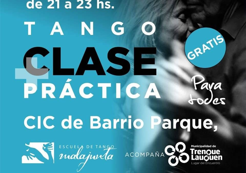 DOS CLASES PRÁCTICAS Y GRATUITAS DE TANGO EN EL CIC DEL BARRIO PARQUE: LA PRIMERA, EL PRÓXIMO VIERNES