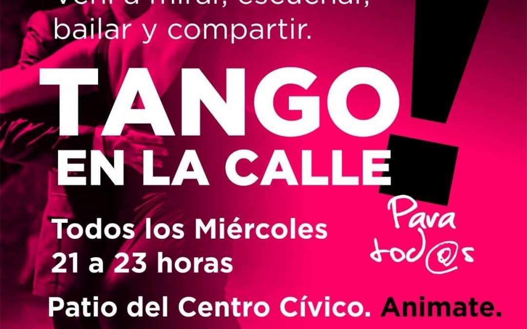 TANGO EN LA CALLE, LA CITA MILONGUERA DE CADA MIÉRCOLES EN EL PATIO DEL CENTRO CÍVICO