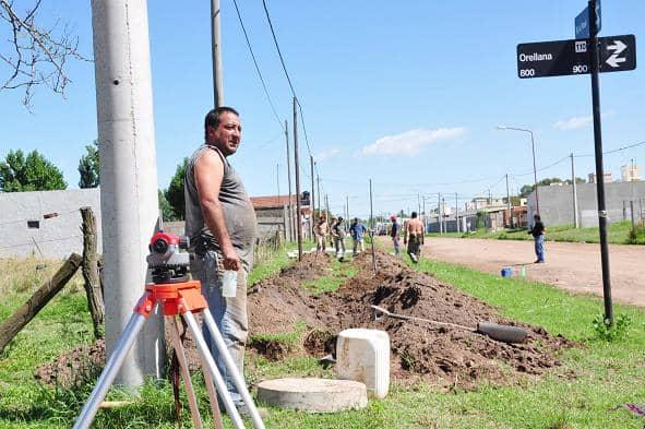 Avanzan obras en la red cloacal domiciliaria
