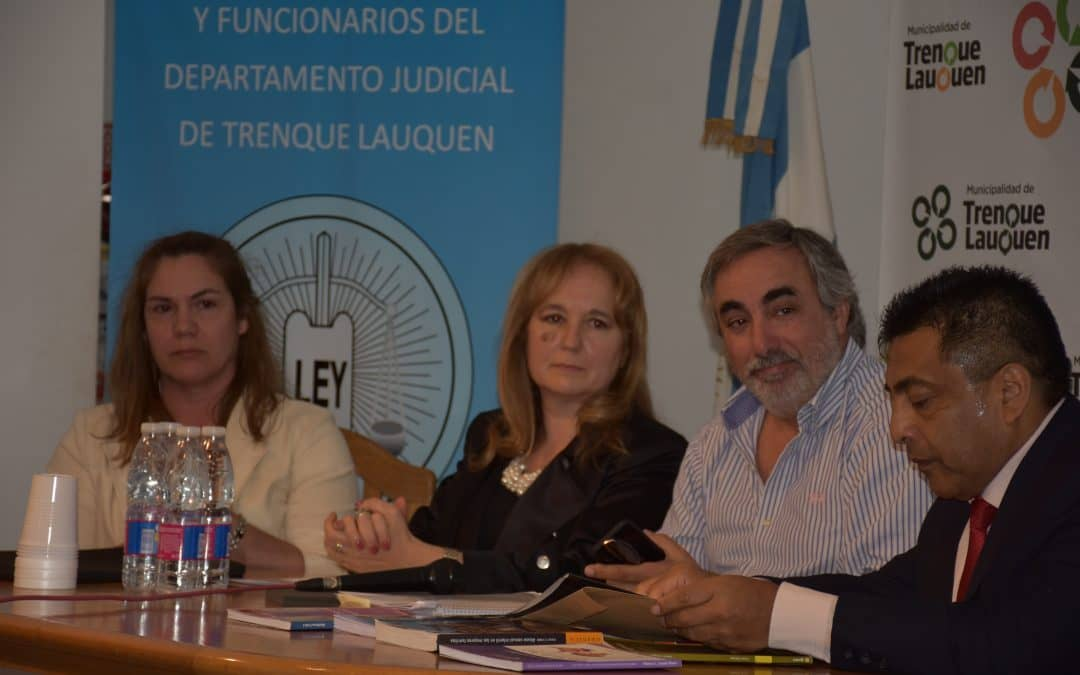 Fernández participó de la apertura de una jornada judicial