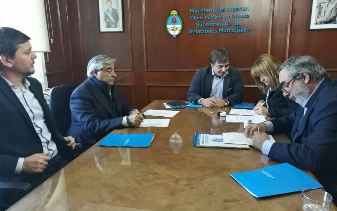 Fernández firmó un convenio con el Ministerio del Interior para el desarrollo del Polo Tecnológico