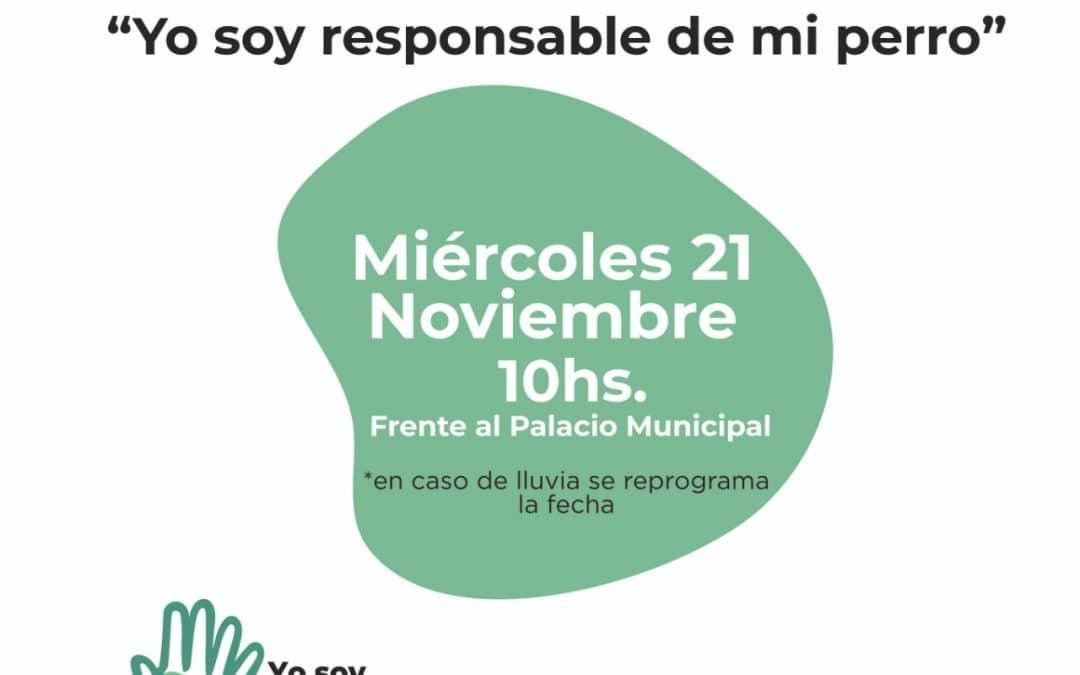 """EL MUNICIPIO LANZA OFICIALMENTE MAÑANA LA CAMPAÑA DE CONCIENTIZACION """"YO SOY RESPONSABLE DE MI PERRO"""""""