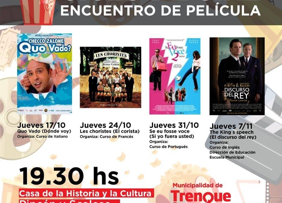 """LA ESCUELA MUNICIPAL ANUNCIA EL CICLO DE CINE """"ENCUENTRO DE PELÍCULA"""", CON FILMES ELEGIDOS POR LOS CURSOS DE IDIOMAS"""