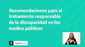 GUÍA DE RECOMENDACIONES PARA EL TRATAMIENTO DE LA DISCAPACIDAD EN LOS MEDIOS PÚBLICOS