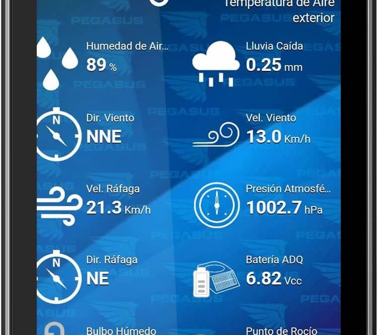 Aplicación disponible para datos meteorológicos actualizados