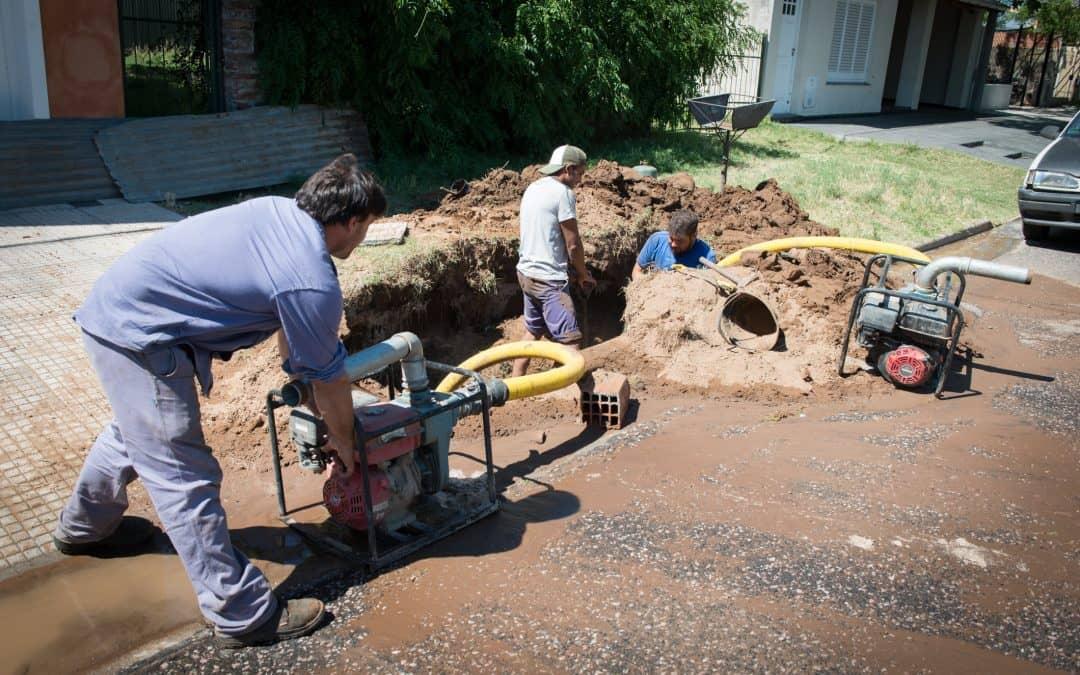 El Municipio realizó arreglos y desvíos en la red de agua potable