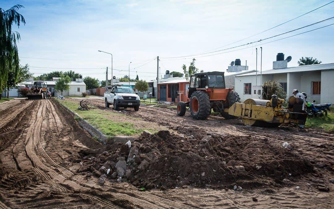 Avanza la obra de pavimento en el barrio Güemes y el sector Noroeste
