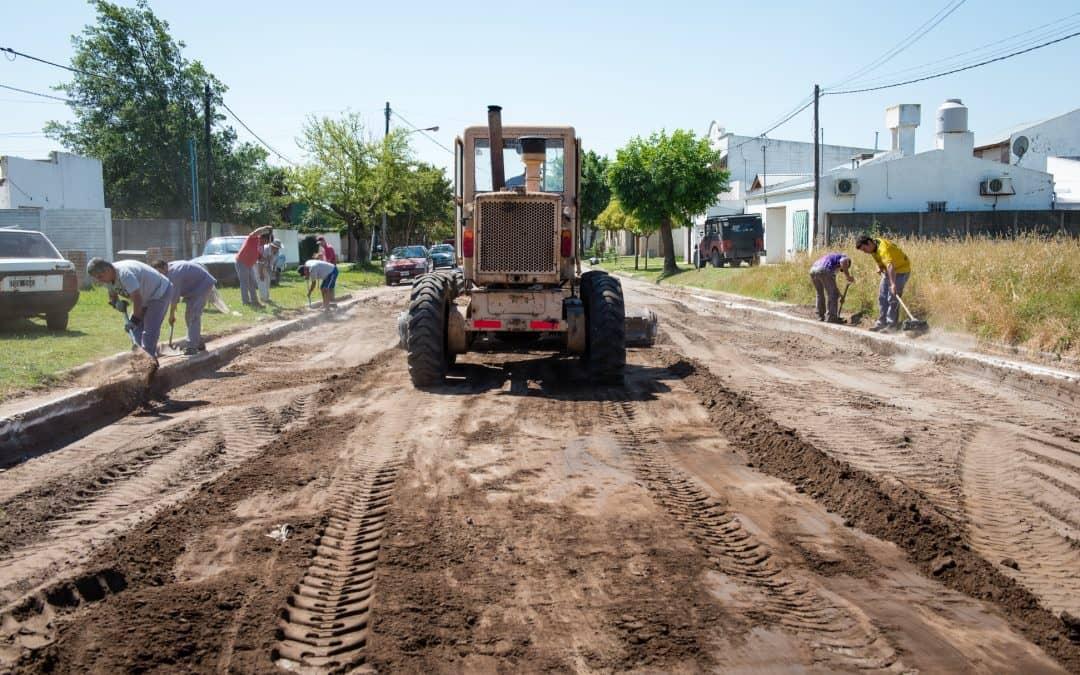 El Municipio avanza con trabajos de pavimento en distintos sectores