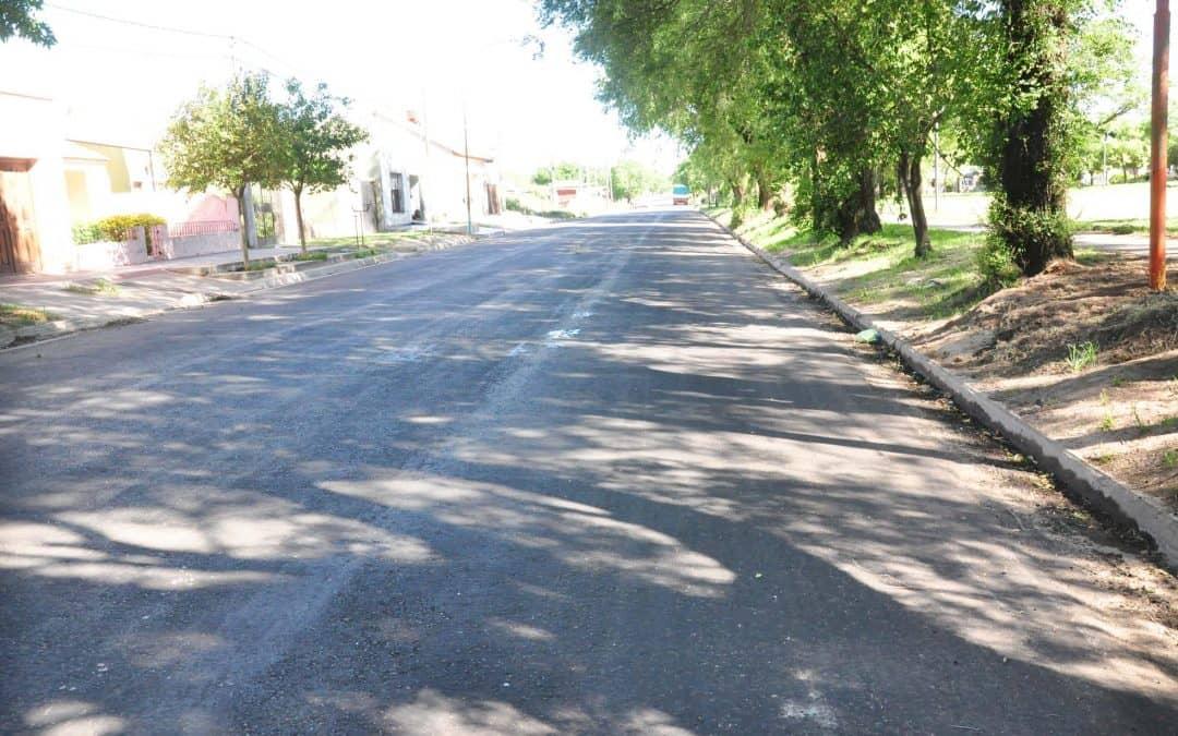 Se pavimentaron calles que habían sido levantadas por obra de cloacas