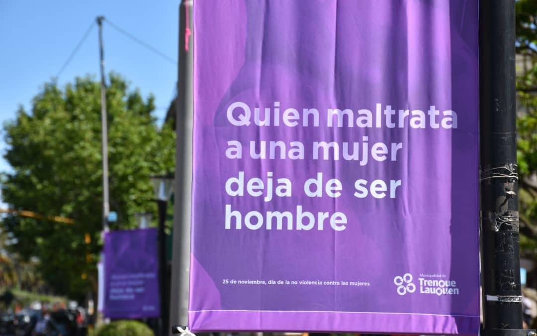 La Municipalidad se suma a la campaña por la no violencia contra la mujer