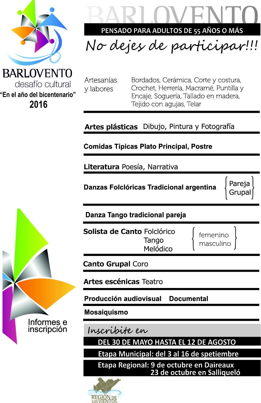 Se extiende el plazo de inscripción para Barlovento, un Desafío Cultural