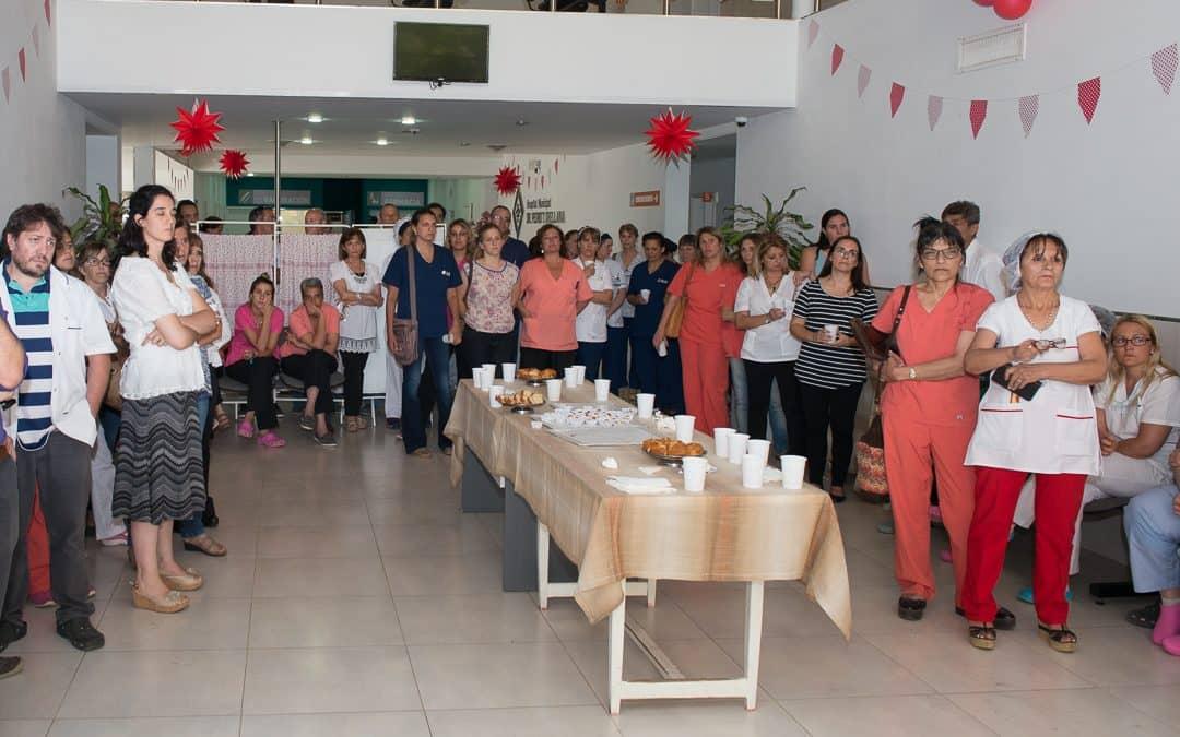 Se realizó un brindis con los trabajadores del Hospital