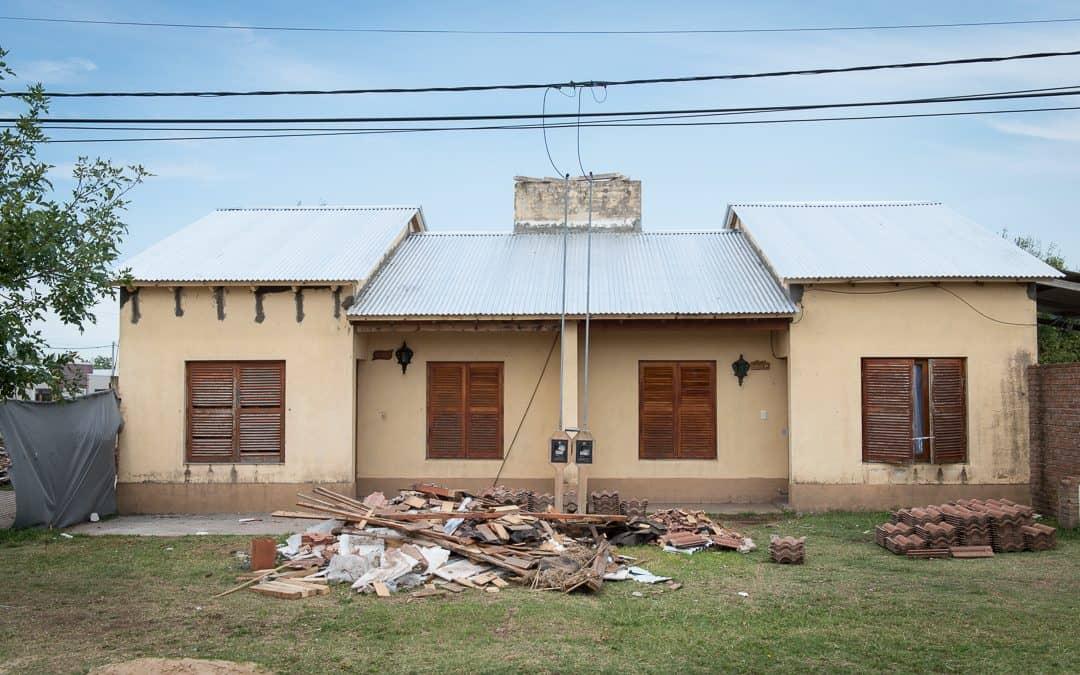 Se techaron 4 casas afectadas por el tornado