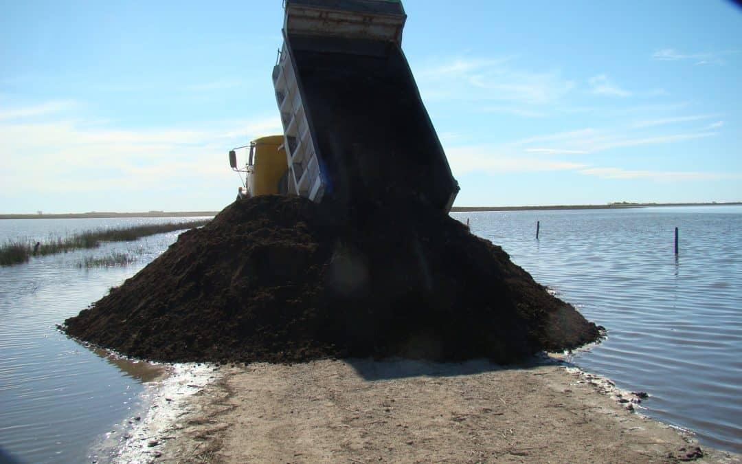 Trabajos realizados en caminos rurales afectados por inundaciones