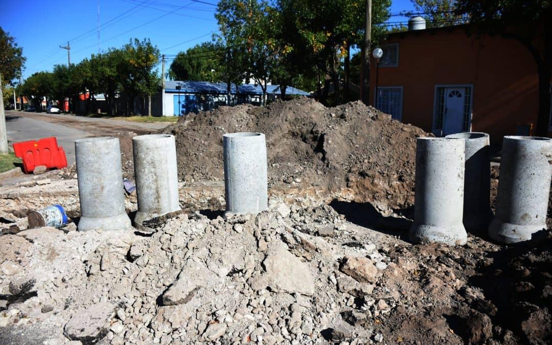 Se conectan las bocas de tormenta y se prevé la pronta pavimentación de la calle Maldonado