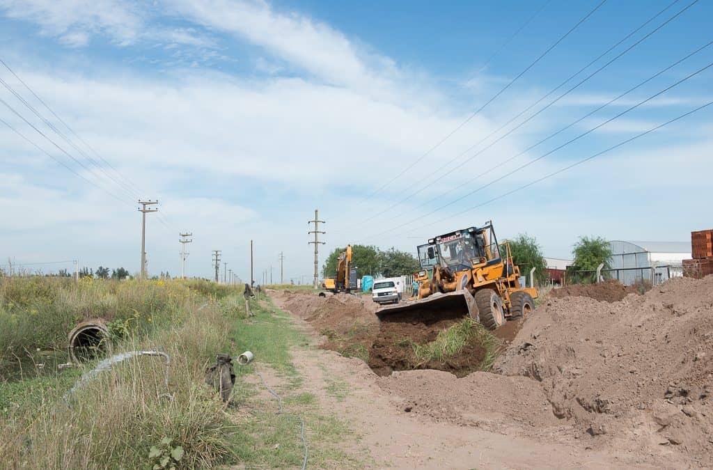 El Municipio avanza con la obra del colector cloacal sur