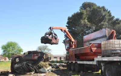 Se compactaron casi 150 toneladas de vehículos secuestrados