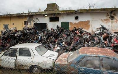 El Municipio compactará los vehículos secuestrados en los últimos 8 años