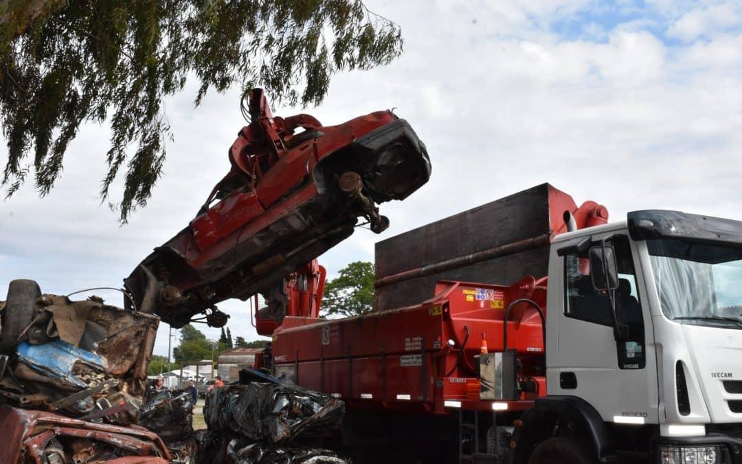 SE COMPACTARÁN 562 MOTOS Y CASI 100 AUTOMÓVILES EN DESUSO
