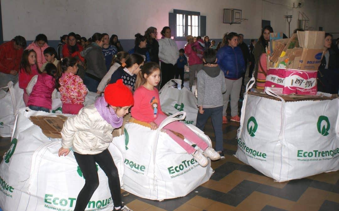 A través de un concurso se recolectó una tonelada de residuos reciclables