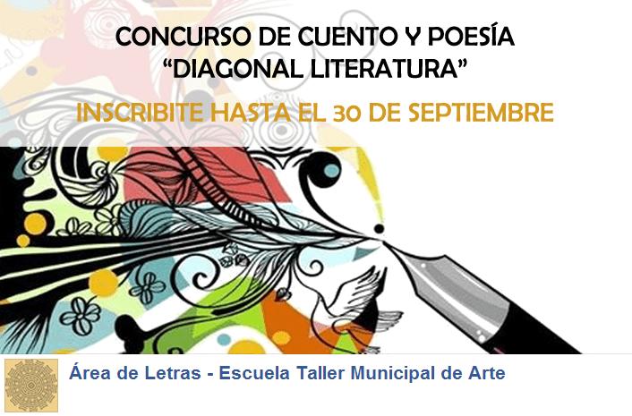 """Convocatoria abierta para el concurso de cuento y poesía """"Diagonal literatura"""""""