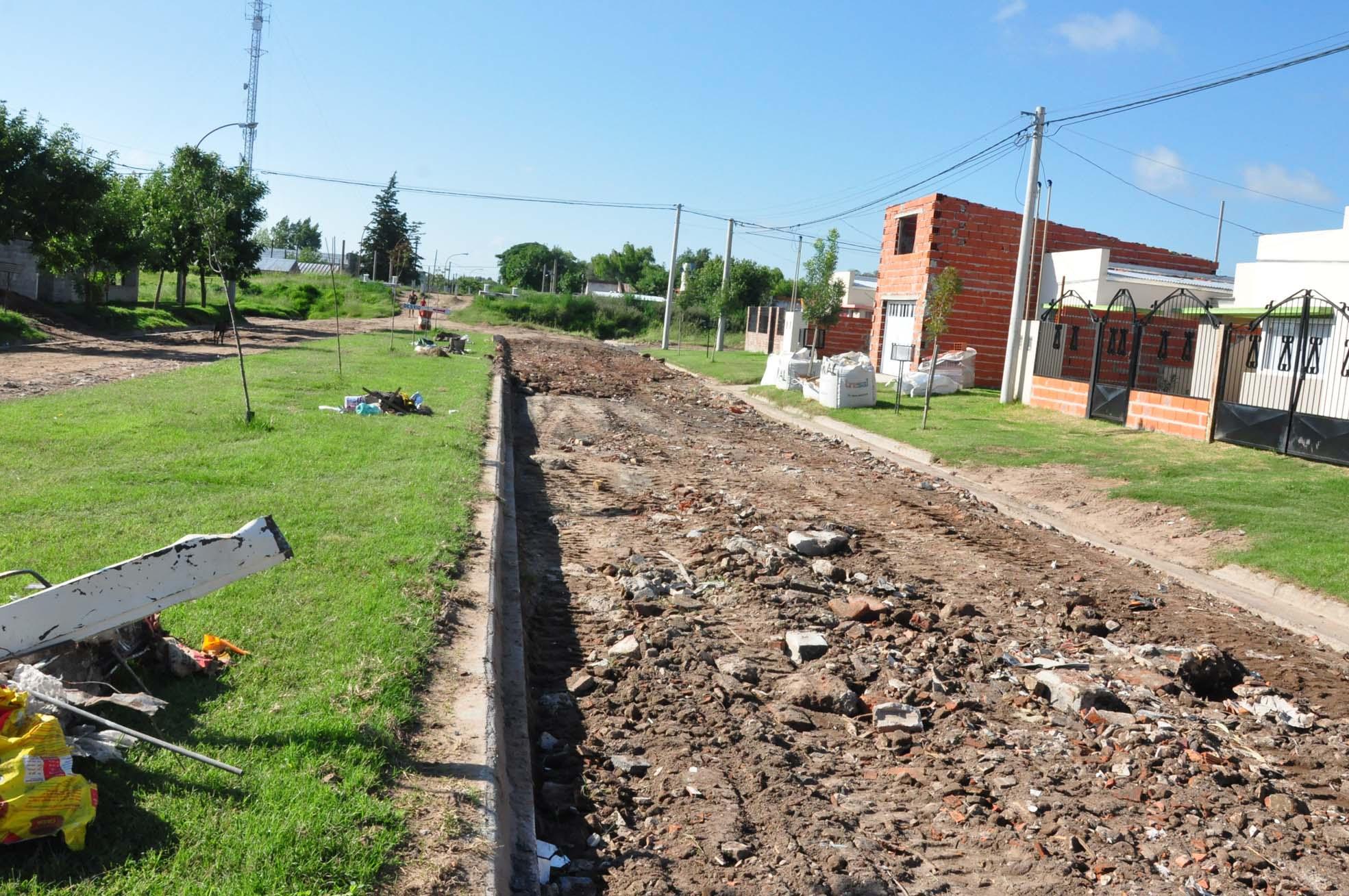 Pavimento en el Barrio Aramendi