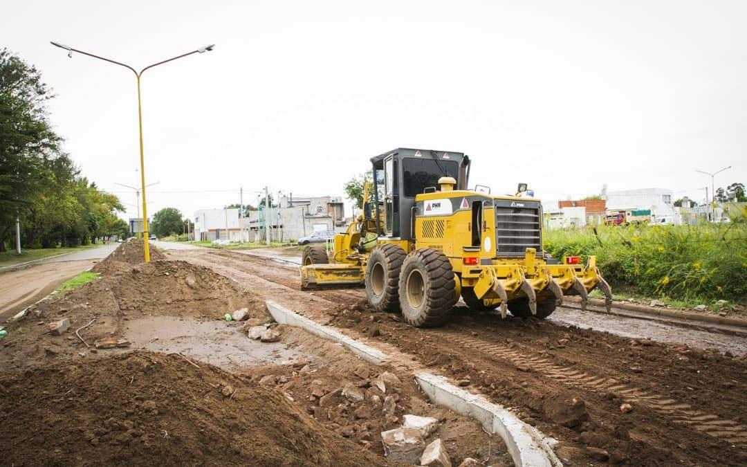 Finalizó la obra de base de escombros en la calle Lagos