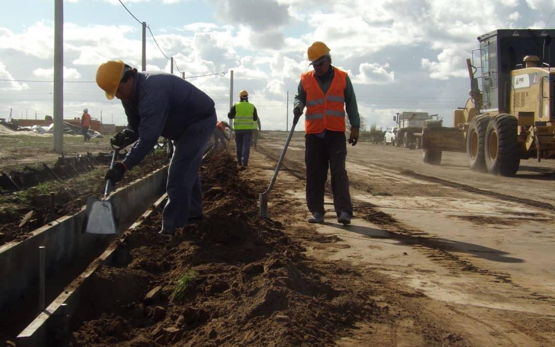 El Municipio avanza con obras de cordón cuneta en la Ampliación Urbana