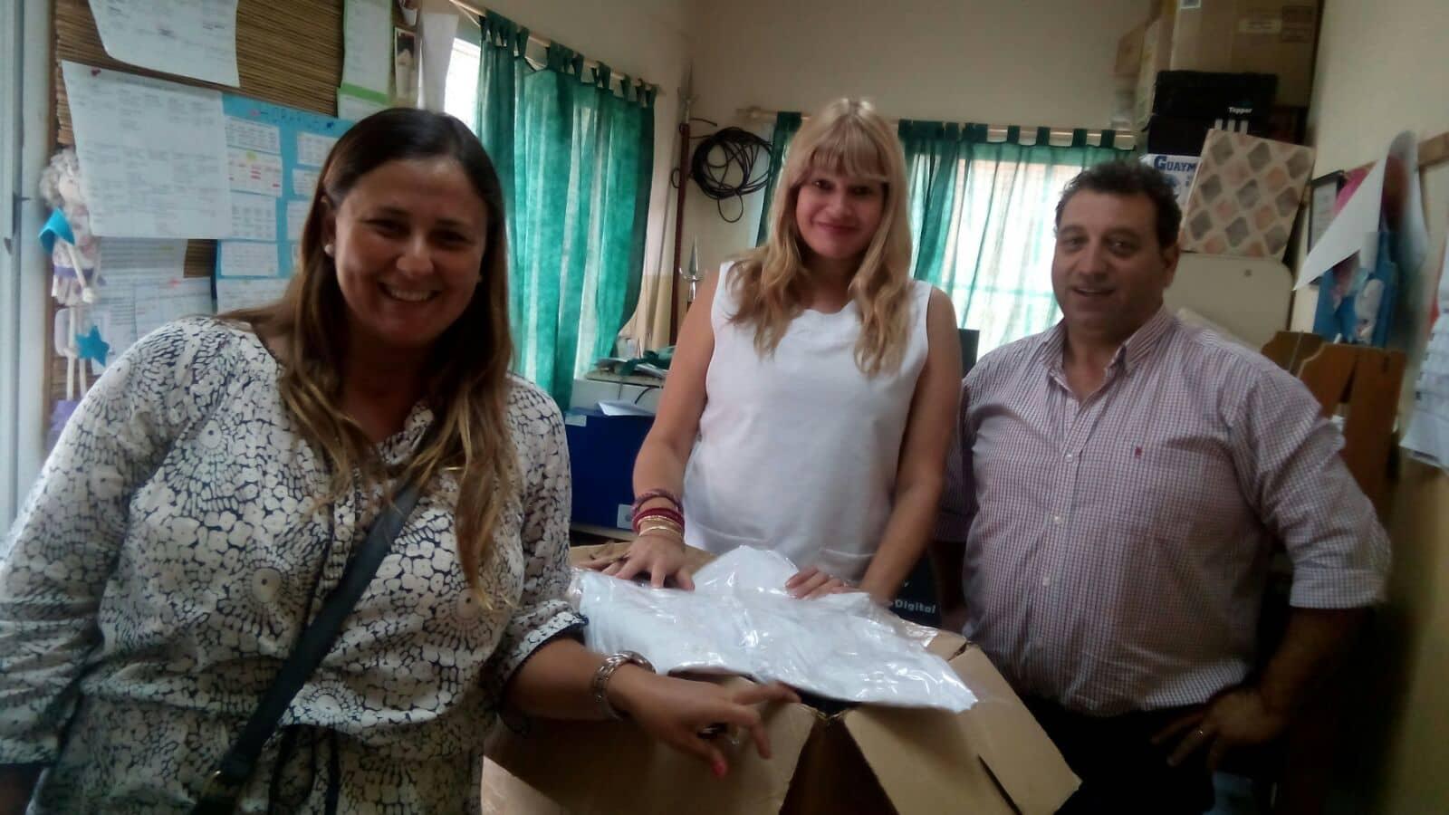 Distribuyeron delantales del Ministerio de Desarrollo Social