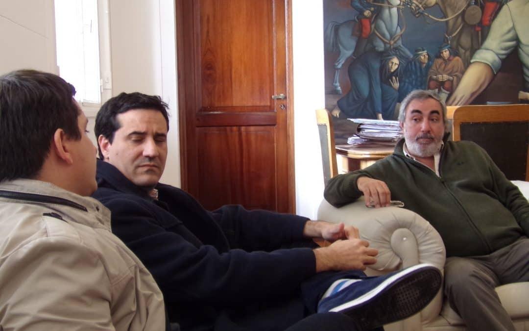 Fernández recibió a los diputados provinciales Pérez y Abad
