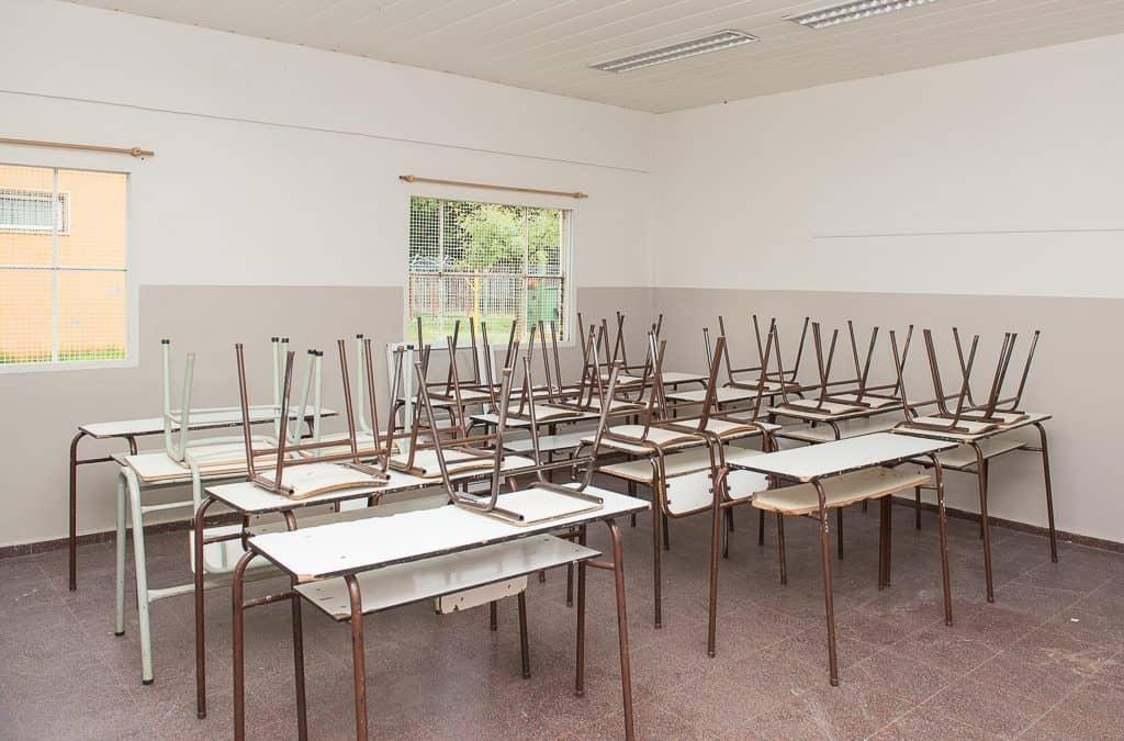 El Municipio finaliza los trabajos de pintura en la Escuela 46