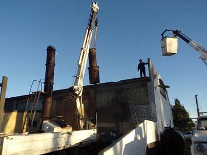 Extracción de horno pirolítico