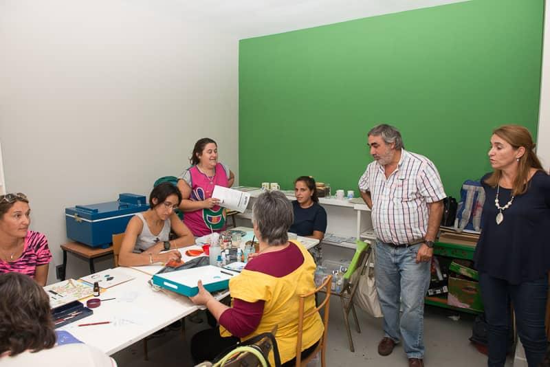El Intendente visitó los talleres de la Escuela Municipal