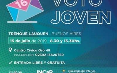 """VOTO JOVEN: EL LUNES (15) SE REALIZARÁN DOS CHARLAS INFORMATIVAS EN EL CENTRO CÍVICO """"LA PRIMERA"""""""