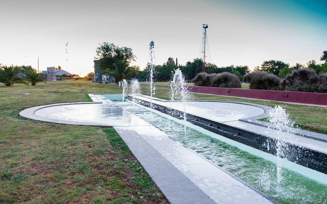 El Municipio puso en funcionamiento la fuente de agua de la Estación