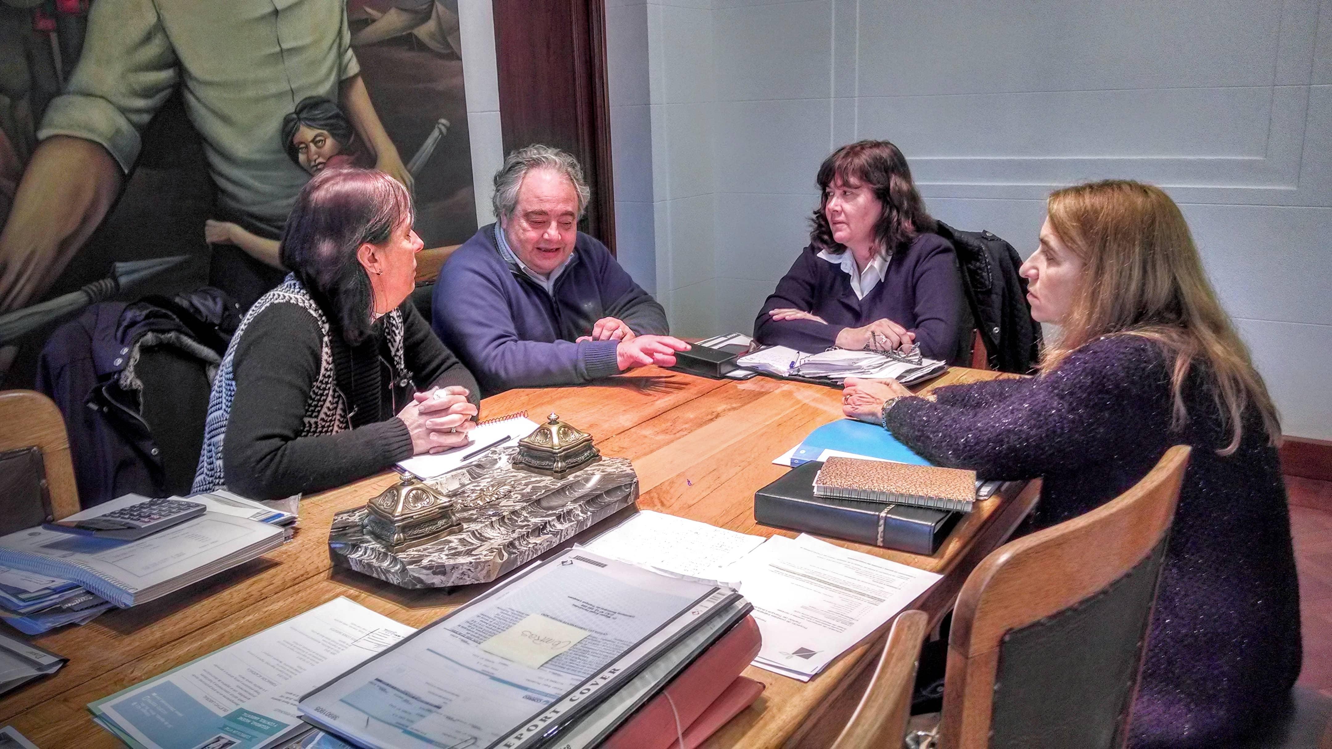 El Municipio se reunió con funcionarias de Chacabuco